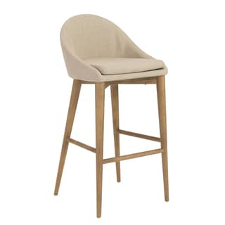 Baruch-b Dark Grey/ Walnut Bar Stool