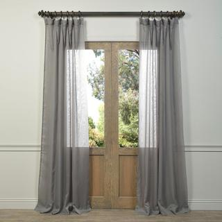 Exclusive Fabrics Signature Grey Sheer Curtain Panel