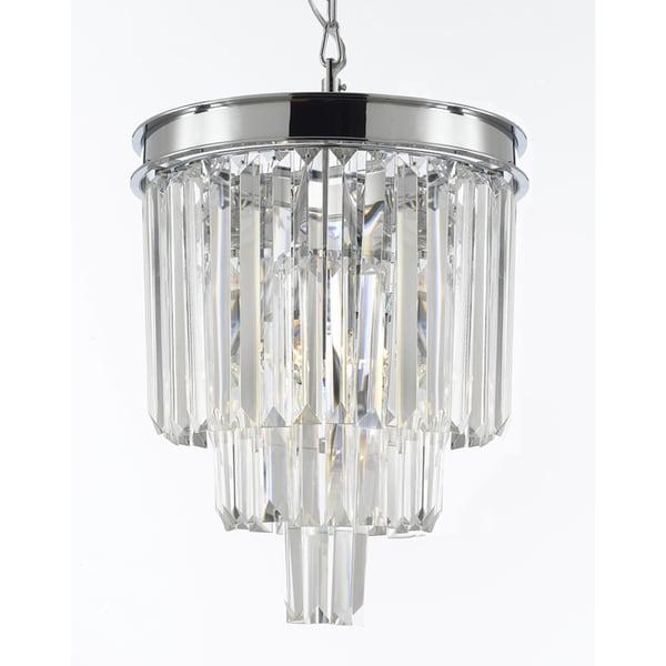 Odeon glass fringe 3 light crystal chandelier pendant free odeon glass fringe 3 light crystal chandelier pendant aloadofball Images