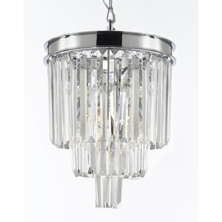 Odeon Glass Fringe 3-Light Crystal Chandelier Pendant