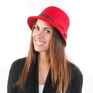Hadari Women's Ribbon Bucket Hat W/ Bow