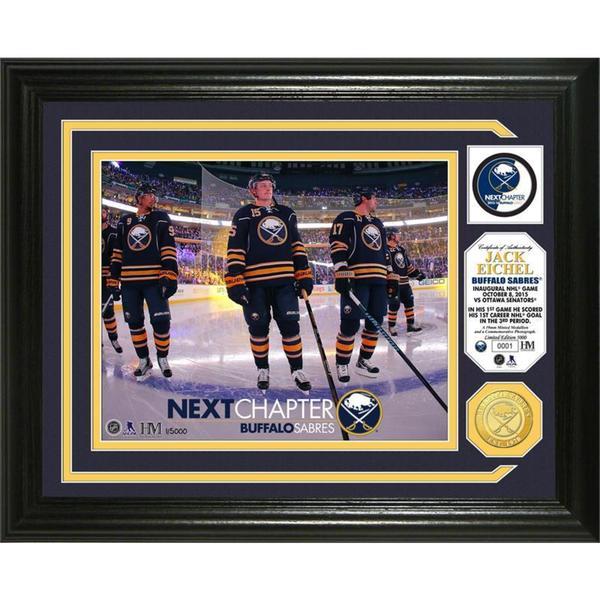 """Jack Eichel """"Inaugural NHL Game"""" Bronze Coin Photo Mint"""