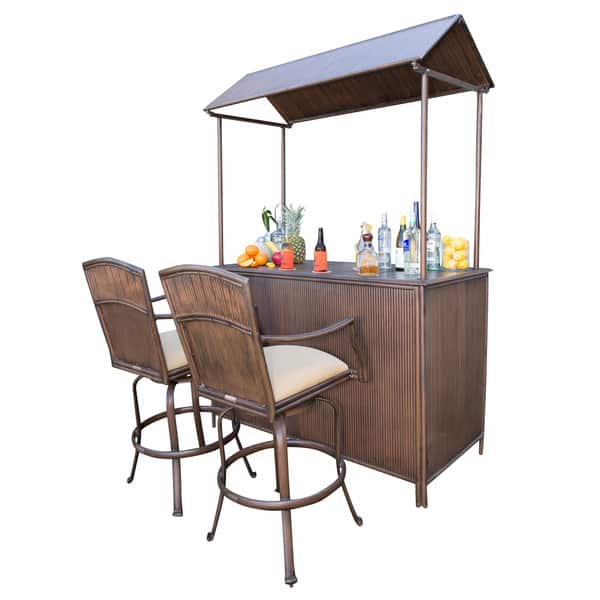 Incredible Panama Jack Tiki Bar 3 Piece Bar Stool Set Gmtry Best Dining Table And Chair Ideas Images Gmtryco