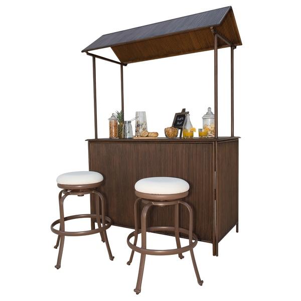 Panama Jack Tiki Bar 3-piece Backless Bar Stool Set