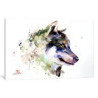 iCanvas Wolf by Dean Crouser Canvas Print