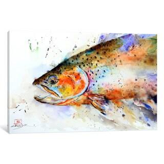 iCanvas Fish (Multi-Color) by Dean Crouser Canvas Print