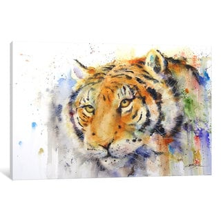 iCanvas Tiger by Dean Crouser Canvas Print