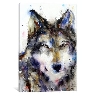 iCanvas Wolf II by Dean Crouser Canvas Print