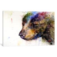 iCanvas Bear by Dean Crouser Canvas Print