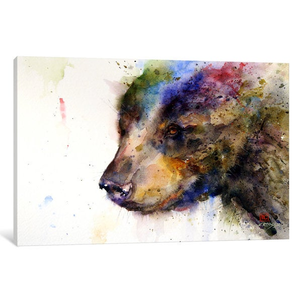 iCanvas Bear by Dean Crouser Canvas Print