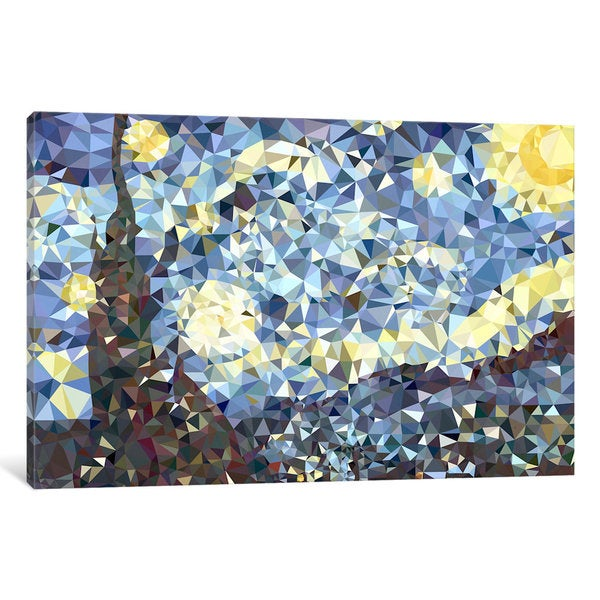 iCanvas The Starry Night Derezzed by 5by5collective Canvas Print