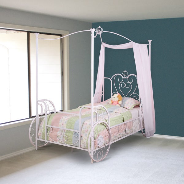 Powell White Twin Bedroom In A Box: Shop Powell Princess Beatrix Carriage Twin Size Bed