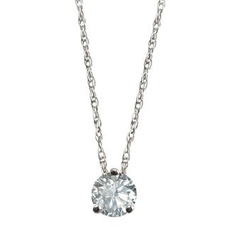 14k White Gold 1ct TDW Floating Diamond Pendant By Life More Dazzling