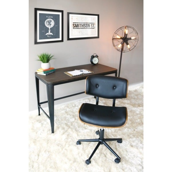 mid century modern office desk. lombardi midcentury modern office chair free shipping today overstockcom 17735188 mid century desk w