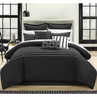 Chic Home Karlston Stitch Black Embroidered 13-piece Comforter Set
