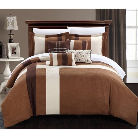Chic Home Reginald 7-piece Plush Microsuede Comforter Bed in a Bag Set