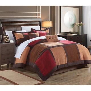Dillard 7-piece Microsuede Patchwork Comforter Set