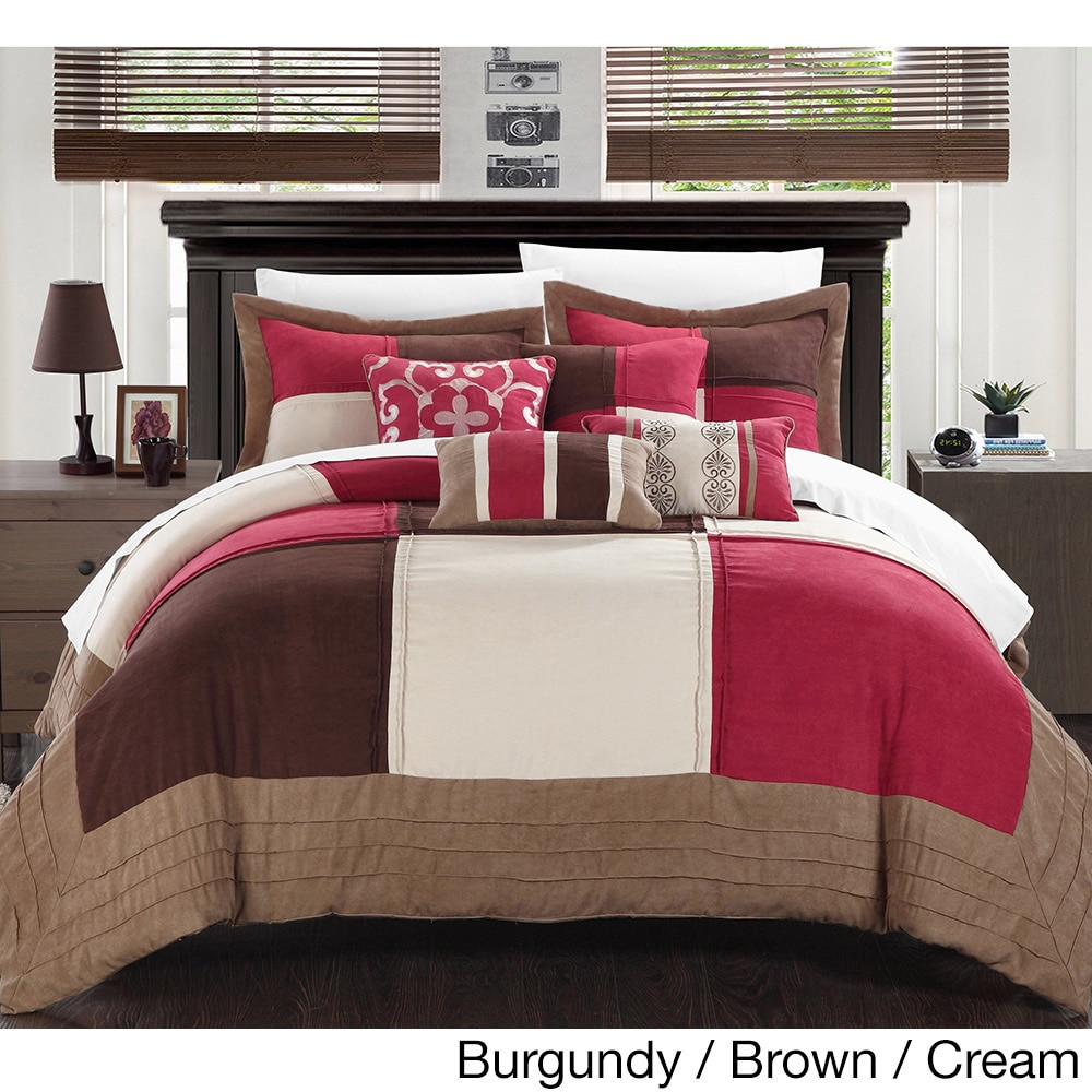 Chic Home Luciano Soft Microsuede Patchwork 7-piece Comfo...