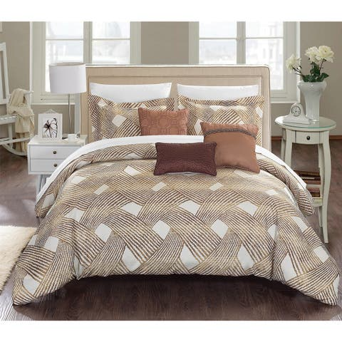 Carson Carrington Sandefjord Gold Luxury Jacquard 6-piece Comforter Set