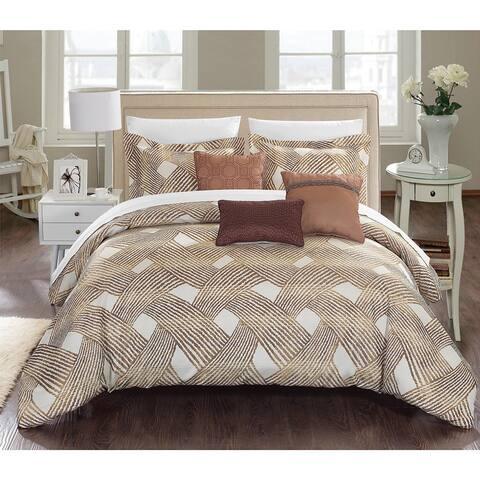 Carson Carrington Sandefjord Gold Luxury Jacquard 6-piece Comforter Set