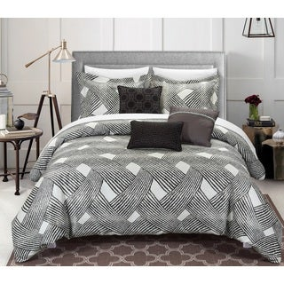 Chic Home 6-piece Antoinette Luxury Jacquard Grey Comforter Set
