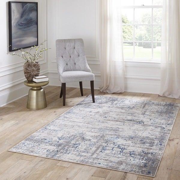 Momeni Juliet Blue Area Rug (7' 6 x 9' 6)