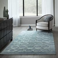 Momeni Millennia Light Blue Hand-Tufted Viscose Rug (5' X 8') - 5' x 8'
