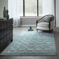"Momeni Millennia Light Blue Hand-Tufted Viscose Rug - 7'6"" x 9'6"""