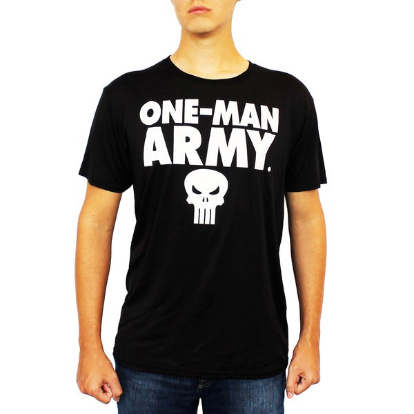 67ba5092c75 Shop Marvel Men's Punisher One-Man Army T-Shirt - Free Shipping On ...