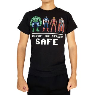 Marvel Men's Keeping the Streets Safe T-Shirt