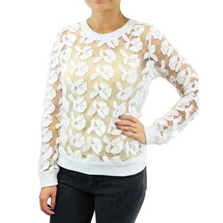 Relished 'JOA' Sugar Flower Sheer Sweater
