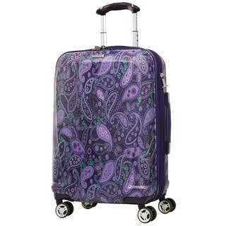 Ricardo Beverly Hills Mar Vista Purple Paisley 21-inch Carry On Hardside Spinner Suitcase
