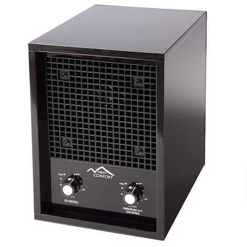 New Comfort 03-1000B Ozone Ionic Black Air Purifier Odor Remover Ionizer