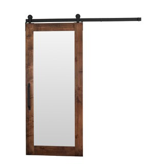 Rustica Hardware 42 x 84-inch Mirror Barn Door with Flat Track Hardware