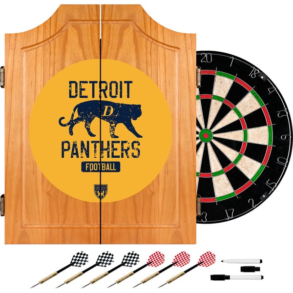 VAF Detroit Panthers Wood Dart Cabinet Set