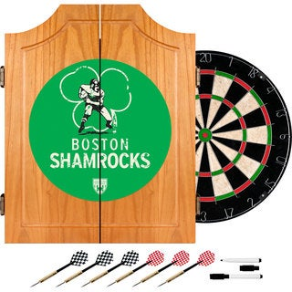 VAF Boston Shamrocks Wood Dart Cabinet Set