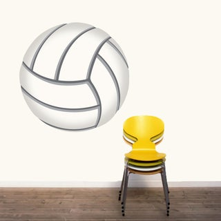 Printed Volleyball Wall Decal (Option: Oversized)