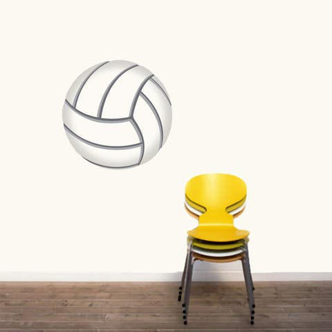 Printed Volleyball Wall Decal