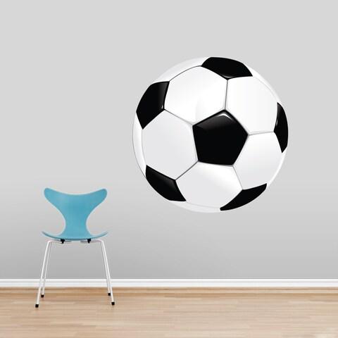 Soccer Ball Wall Decal, Soccer Sports Wall Art Stickers