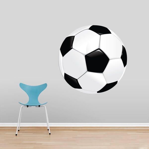Printed Soccer Ball Wall Decal