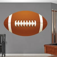 Printed Football Wall Decal