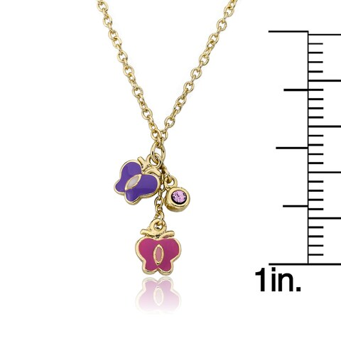 Candyland 14k Goldplated Vanilla Swirl in Strawberry Topped Cupcake Necklace