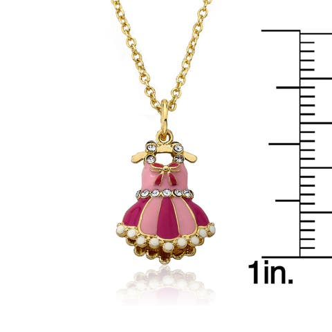 MTS Candyland 14k Goldplated Heavy Link Necklace with Strawberry Topped Cupcake and Charm Cluster