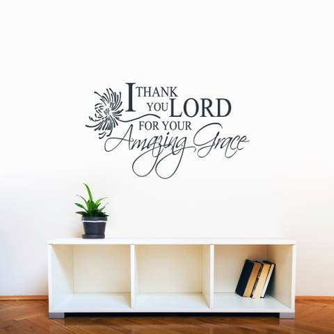 I Thank You Lord, Amazing Grace' 36 x 21-inch Wall Decal