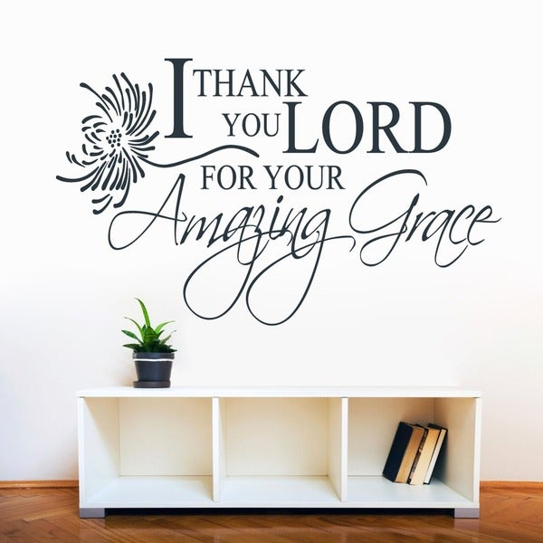 I Thank You Lord, Amazing Grace' 60 x 36-inch Wall Decal
