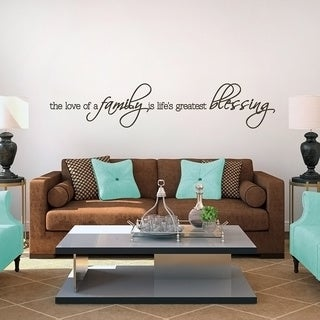 Life's Greatest Blessing Wall Decal (60 x 12)