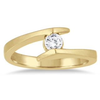 Marquee Jewels 1/5 Carat Round Diamond Embrace Ring in 14K Yellow Gold (I-J, I2-I3)