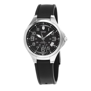 Swiss Army Men's 241462 'Base Camp' Black Dial Black Rubber Strap Swiss Quartz Watch