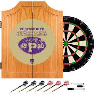 VAF Portsmouth Spartans Wood Dart Cabinet Set