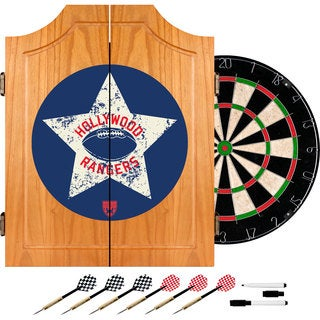 VAF Hollywood Rangers Wood Dart Cabinet Set